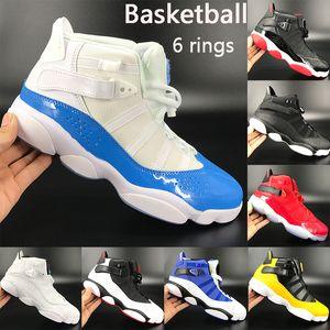 Novas 6 anéis de basquete sapatos jumpman UNC criados momentos decisivos concórdia South Beach equipe confetti homens reais mulheres esporte Sneakers US 5,5-13