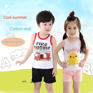 2020 I-shaped cotton Top Vest vest camisole for boys and girls and children thin baby cotton top base shirt