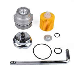Torque Wrench Kit Oil Filter and Filter Cover and Cap Type Oil Grid Wrench Set Auto Car Repair Tools 6XU9#