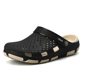 Crocks Hole Shoes Croc Men Green Garden Casual Rubber Clogs For Men Male Sandals Summer Slides Crocse Swimming Jelly Shoes