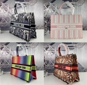 TOP Dior Tuval İşlemeli Mektupları Taşınabilir Alışveriş Marka Tasarımcı Çantası ile The New Tide moda star Çanta Çanta Çanta Kadınlar Çanta