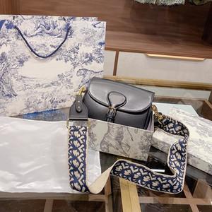 Designer sacs Oblique Lady Grand sac brodé avec Bobby Strap femmes Sacs à main bandoulière réel robe de soirée en cuir vachette Sac bandoulière en cuir