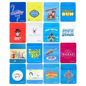 Novos cookies sacos de mylar ziplock embalagem 3,5 1/8 Cheetah Piss Berry Pie Gary Payton aferidor de calor para armazenamento de alimentos