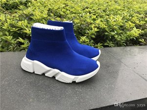 Cheap kids shoes Speed Trainers knit Socks Sneakers Girls Boys Mid Casual Sports Shoes Mercurial Shoes Toddlers Birthday Gift