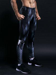 Calças justas Sweatpants For Men Moda Leggings Homens Jogger 3D aptidão Superman Elastic calças de compressão