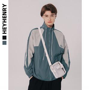 GTeER HeyHenry хип-хоп национальной моды свободный стенд воротник пара траншею Ветер национальности Coat национальности мужчин 2020 осень Новый INS модный