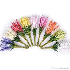 10Pcs lot Mini PE Lavender Artificial Flowers for Wedding Home Decoration DIY Craft Gift Bride Wreath Scrapbooking Fake Flower