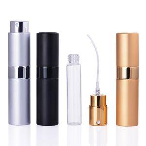 8ML Portable Telescopic Rotary Spray Bottle Alumina Perfume Empty Bottle Perfume Diffuser Makeup Atommizer Spray Bottling Tube LX2413