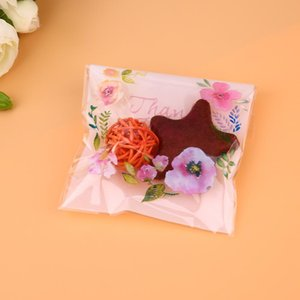 Biscuit Cookie Baking Bags Floral Plastic Bag Wedding Party Craft Packing Bag W4BW#