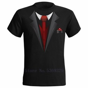 Tuxedo Fancy Dress Stag Party Tux T Shirt Mens Funny Wedding Prom Beachelor Groom Tops Tee Gift TShirts Black USA SIZE