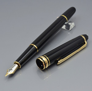 high quality 163 Bright black 4810 nib Fountain pen business office stationery Promotion calligraphy ink pens Gift