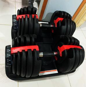 قابل للتعديل الدمبل 2.5-24 كيلوجرام اللياقة البدنية التدريبات الدمبل الأوزان بناء عضلاتك في الهواء الطلق الرياضة اللياقة البدنية معدات CYZ2539 البحر الشحن
