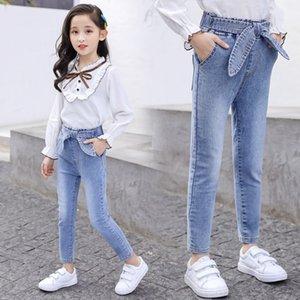 """الجينز HdEYN الربيع الفتيات ملابس """"2020 ربيع جديد فضفاض السراويل الجينز الطفل فراشة الأطفال نمط الكورية المتوسطة والأطفال كبير جير"""