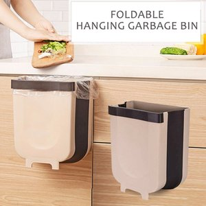Folding Waste Bin Kitchen Garbage Bin Car Trash Can Wall Mounted Garbage Trash Bags Holder Toilet Storage Bucket Kitchen Tool