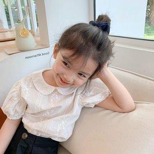 camisa de algodão 2020 de tSxzr Crianças tong camisa da boneca respirável estilo coreano de Chen shan Tong chen shan Crianças boneca bordado colar cute