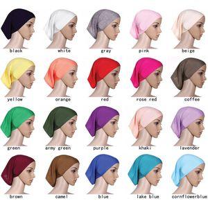 Kopftuchs 2020 Frauen Hijab Cap Hut Mütze Cotton Under Schal Knochen Bonnet Halsteil muslimischen Schal Großhandel