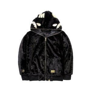 New 9Bape Autumn and winter foreign trade new men's casual Plush zipper personalized sweater coat abathing ape Size M-2XL