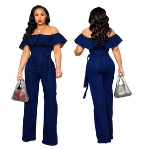 Kadın Tulumlar Tulum Katı Denim Playsuits Ve Rahat Tek Parça Tulum Kadınlar Için Kısa Kollu Giysiler 2021