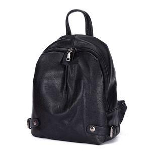ABER Nesitu Highend New Casual Fashion Black 100% Genuine Leather Women's Backpack for Girl Female Lady Travel Bags M6072