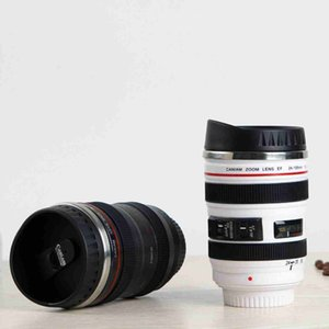 5 Generation Camera Lens Coffee Mug 400ml Stainless Steel Thermos Tumbler Travel Camping Coffee Cups with Lids ZZA2450