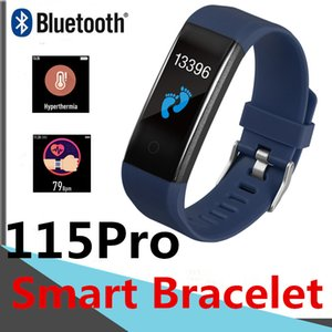 115Pro Smart Bracelet Body temperature measurement 116plus Fitness Tracker Passometer Heart Rate Boold Pressure 115plus Smart Wristbands M4