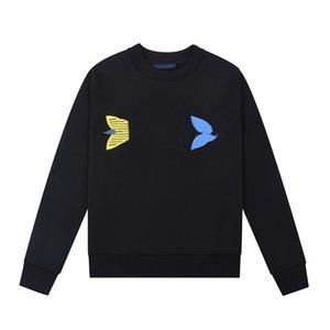 20ss Autumn and winter Fashion crew neck geometric print Long Sleeve Cotton Sweatshirts Men Women Streetwear hoodies zdll0714.
