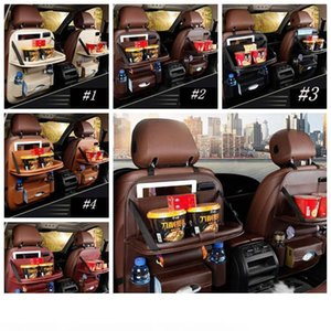 New Car Seat Back Bag Folding Table Organizer Pad Drink Chair Storage Pocket Box Travel Stowing Tidying Automobile Accessories ZZA1966