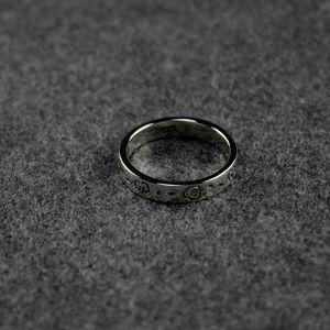 Vintage hueco delgado anillo fantasma de lujo de la joyería Reduzca Carta anillo de los hombres de plata esterlina anillo de Bohemia encanto