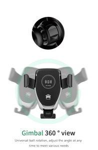 Беспроводной 10Вт Быстрое зарядное устройство Qi мобильный сотовый телефон Маунт автомобиля зарядное устройство телефона держатель для iPhone Samsung Huawei Xiaomi