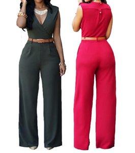 S-XL Sıcak 2019 İlkbahar Kadınlar Yeni Moda Gevşek kişinin ahlak Leisure jumpsuits kemer T200509 yetiştirmek
