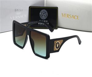Yüksek Kaliteli tedarikçisi Moda Güneş çifte köprü Güneş Gözlükleri Tasarım ultra hafif metal çerçeve UV koruması Gözlük Versace