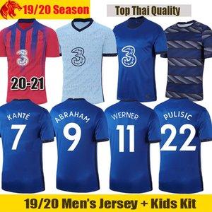 20 21 첼시 축구 유니폼 Werner ZIYECH 2020 2021 WILLIAN PULISIC ABRAHAM 축구 셔츠 LAMPARD KANTE MOUNT 남성 저지 키즈 키트