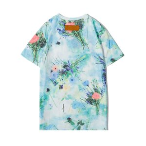Designer Summer Mens Women T Shirt New Fashion Tshirts with Label&tags Breathable Short Sleeve Mens Tops with Flowers Tee Shirts Wholesale