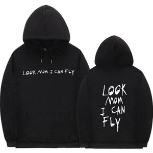 Rapper Look Mom I Hoodie sweater Can Fly men's and women's fashion hoodie hip-hop casual sweater