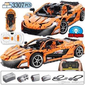 Ville Le MOC McLaren P1 Speed Car pour Legoing Building Blocks Technic App RC / non-RC Motor Racing Briques Set voiture jouets pour les enfants 66