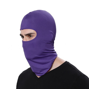 Açık Balaclava Tam Kapak Yüz Boyun Eşarp Turban Şapka Motosiklet Windproof Güneş Koruma Bisiklet Yüz ZZA2467 Maske Caps