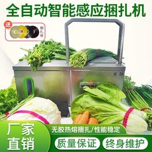 Piccolo reggiatrice automatica supermercato vegetale packer vegetale reggiatrice manufatto reggiatrice colla macchina libera