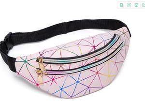 Women's Personality Laser Colorful Sports Multi-layer Waist Bag 2020 Newset Diamond Lattice Cross-body Chest Bag