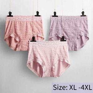 3Pcs lot Plus Size Sexy Lace High Waist Underwear Women Sexy BuLifting Slimming Large Size Panties Lady Tummy Control Big 4XL