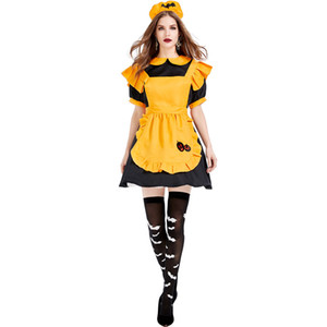 New Arrival Pumpkin Maid Costume Cosplay Halloween Costume For Women