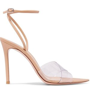 2020 Color Nude Film Crossing Bring Cavity Fine With Single Shoe One Buckle Sandals Woman