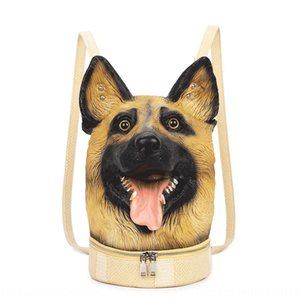 Volcano new female personality creative head-back rate Pet bag backpack small dog head backpack male funny cute pet bag