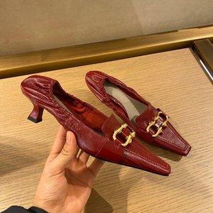 2020 Design original BB und L wies High Heel Leder Quaste B Pantoffeln Strandschuhe Luxuxgeschenk Schuhe freies Verschiffen