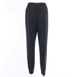 New Blue Ladies Women'S Fashion Floral Print Harem Pants Women Beach Clothing Loose Elastic Waist Trousers Casual Beach Pants#343