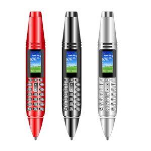 "6 en 1 multifunción Mini Pen AK007 del teléfono móvil 0.96"" pequeña pantalla GSM SIM de doble cámara linterna bluetooth Marcador de teléfonos móviles con grabación"
