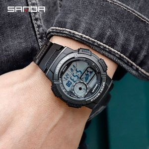zUAGn Sanda male student electronic Special Forces Sports teenagers waterproof watchband Electronic watch band smart high school student wat