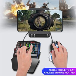 35 Tasten Gaming-Tastatur Mechanische Tastatur-Maus-Hintergrundbeleuchtung Gaming Key-Pad-Maus für Android Mobiltelefone Zubehör