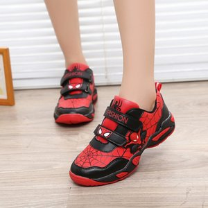 Spider-Man children's sports Running sports sneakers 2019 autumn new boys' running shoes Korean fashion student travel shoes