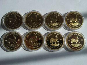 1967-2016 Afrique du Sud Krugererrand Coin 1oz plaqué or de la collection de pièces d'or 24k Cadeaux Arts métal artisanat DHL Livraison gratuite 200pcs / lot