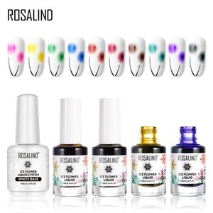Gel nail polish Air Dry nail polish Ice Flower Lacquer For nail art decoration Need White base coat Gel Varnishes
